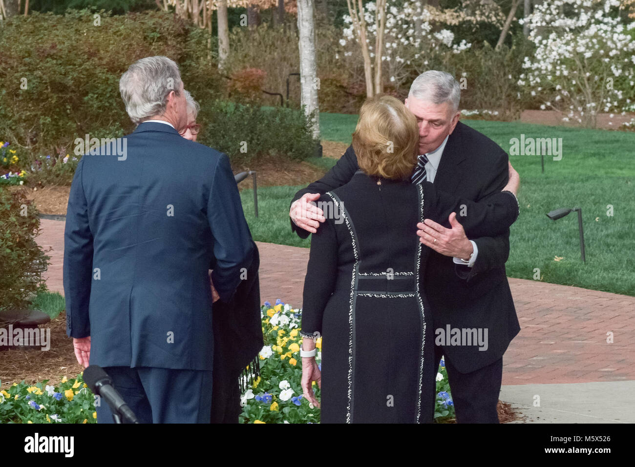 Charlotte Nc Usa 26 Feb 2018 Franklin Graham Wife Jane Greet