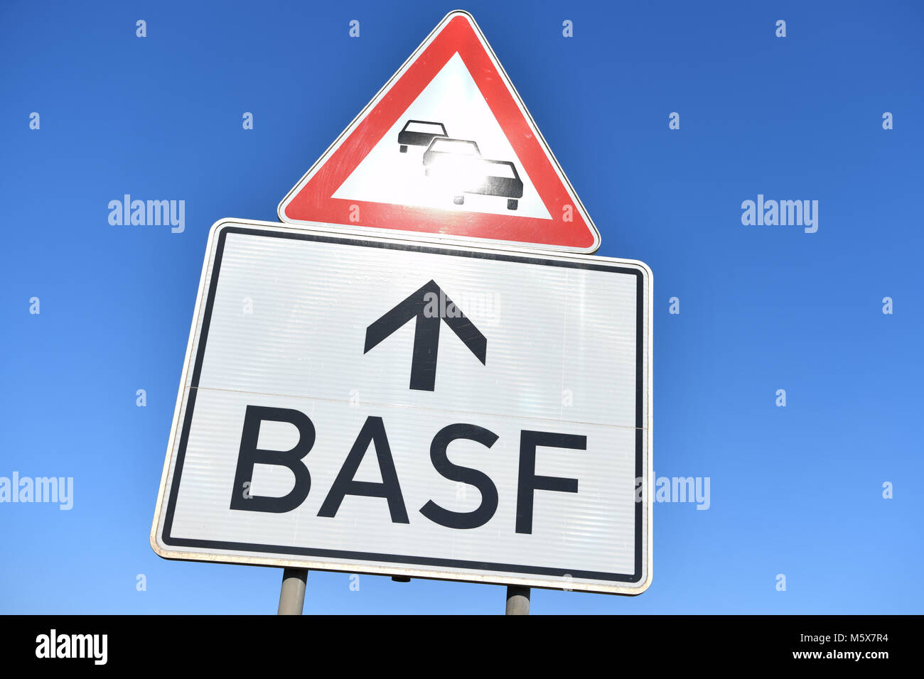 22 February 2018 Germany Ludwigshafen A Sign Reading Basf Can