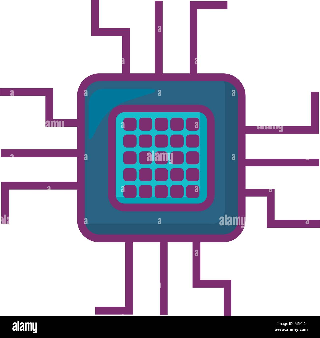 electronic circuit design Stock Vector Art & Illustration, Vector ...