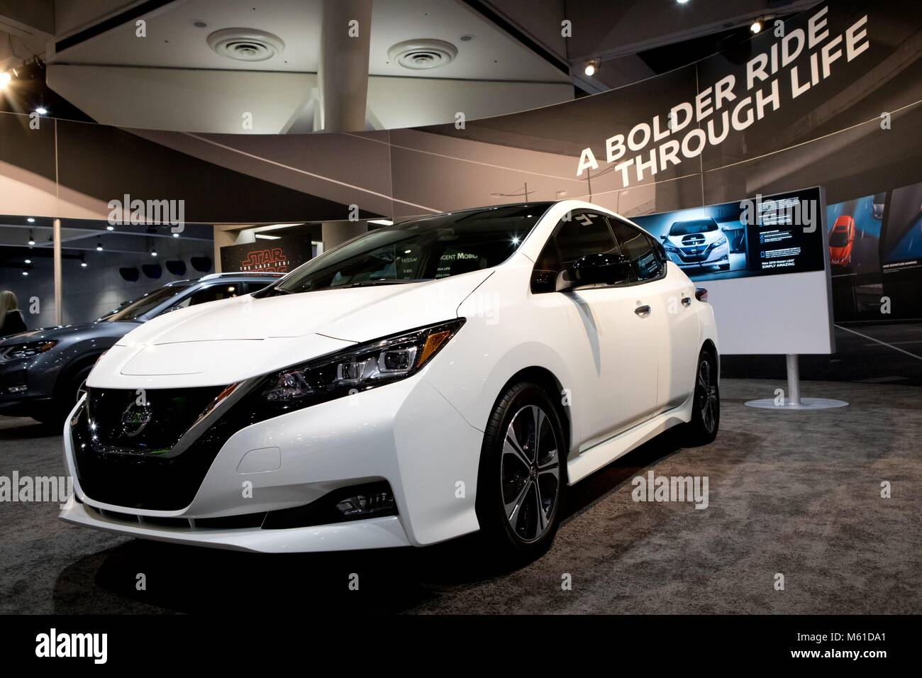 All Electric Nissan Leaf At The San Diego International Auto - San diego international car show discount tickets
