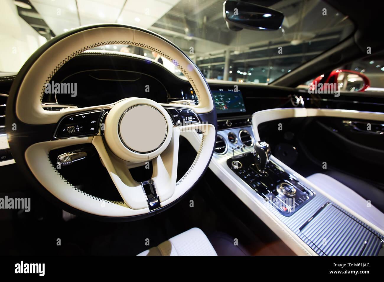 Car Interior Luxury Interior Of Prestige Modern Car Dashboard And