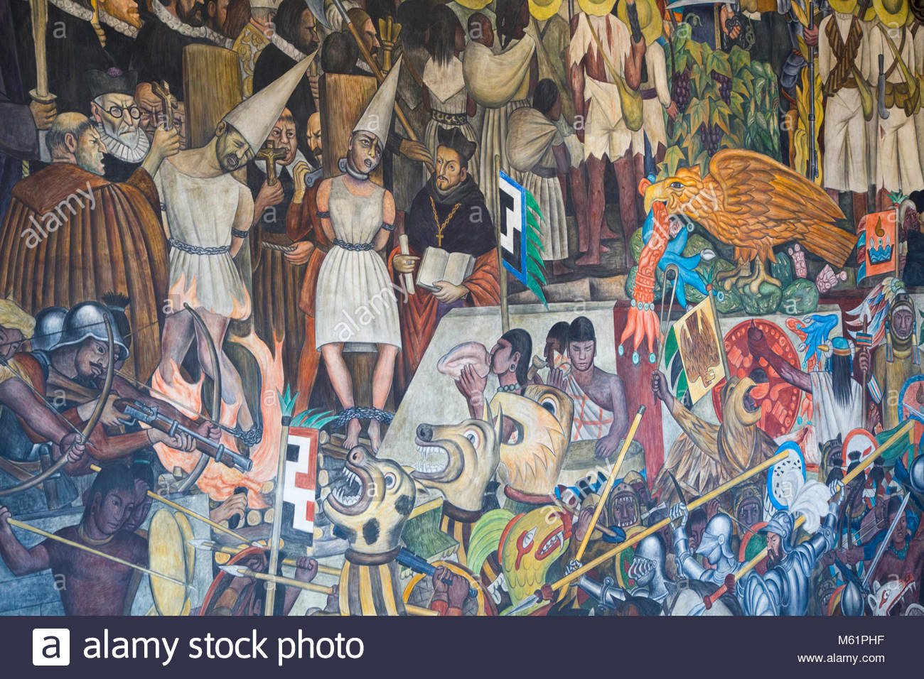 Diego rivera murals mexico city stock photos diego for Diego rivera mural 1929
