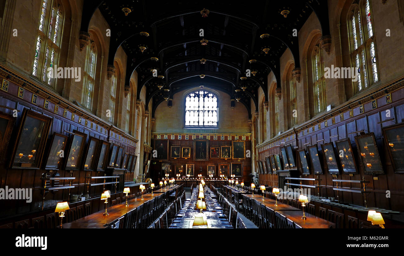 Oxford christ church college great hall stock photos for Salle a manger harry potter