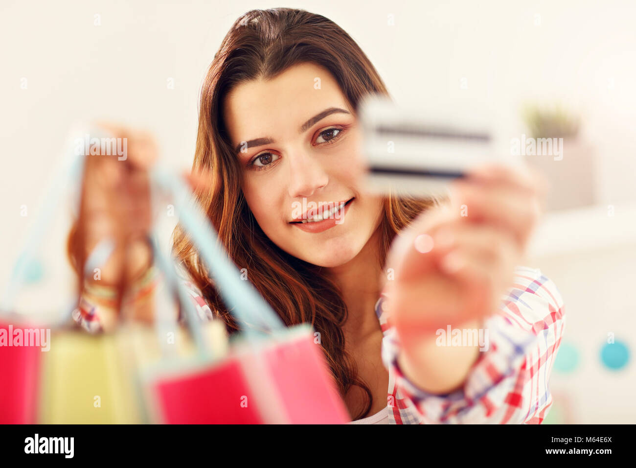 Attractive woman buying easter gifts online stock photo 175890594 attractive woman buying easter gifts online negle Gallery