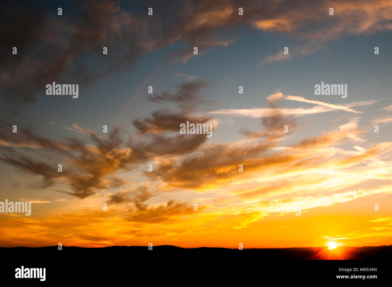 wallpaper, background, colorful, sunset, spain, cloudy, clous