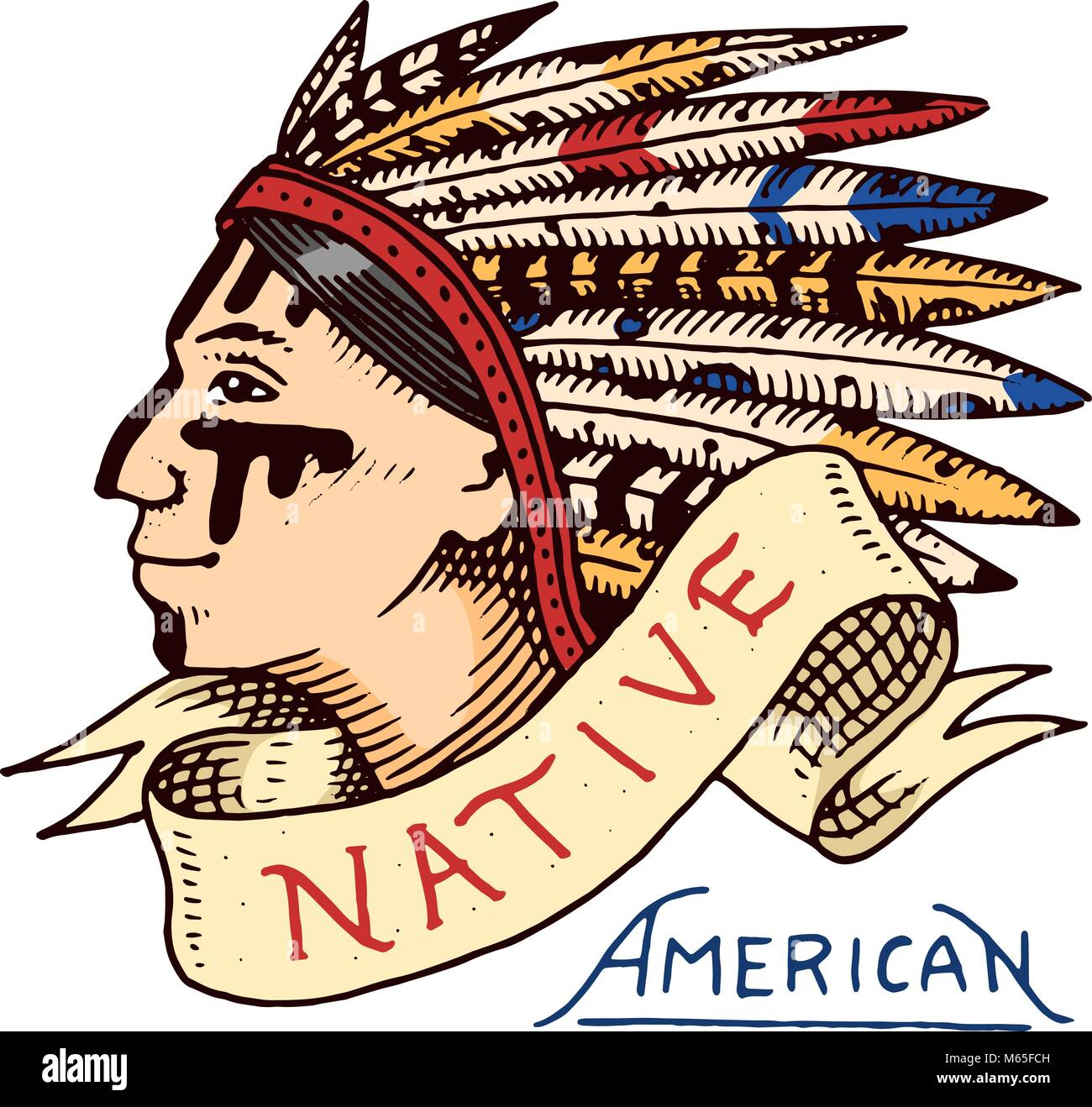 Apache indian war chief stock photos apache indian war chief native american old red skinned indian label and badge cherokee or apache biocorpaavc