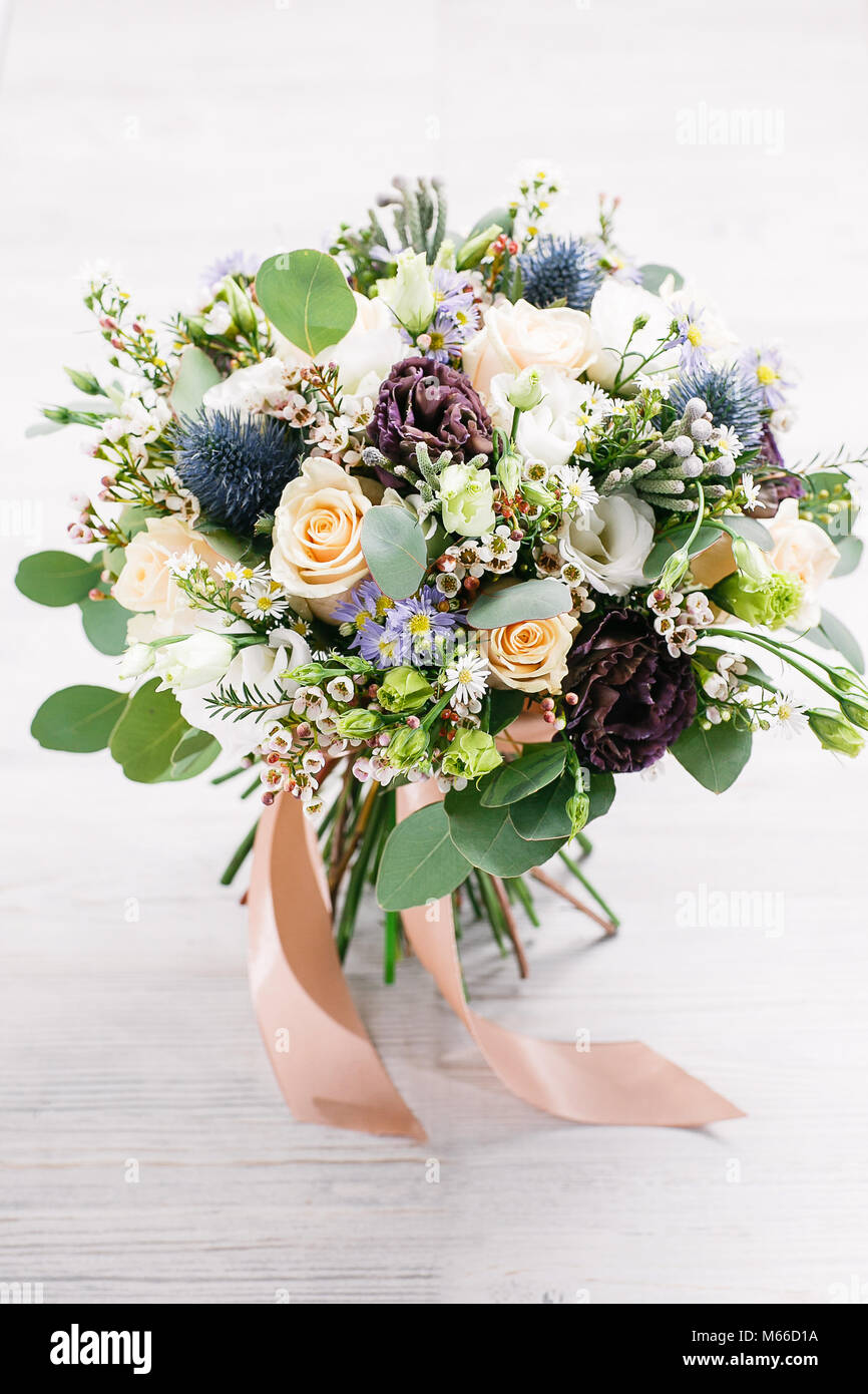 Beautiful bouquet of different flowers colorful color mix flower on beautiful bouquet of different flowers colorful color mix flower on a table izmirmasajfo