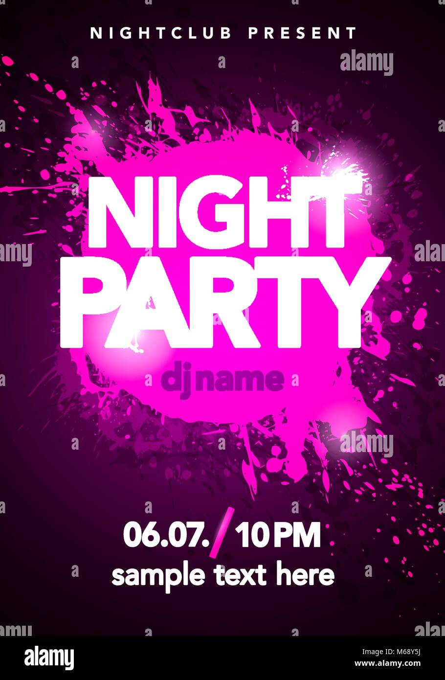 dance party poster background template stock photos
