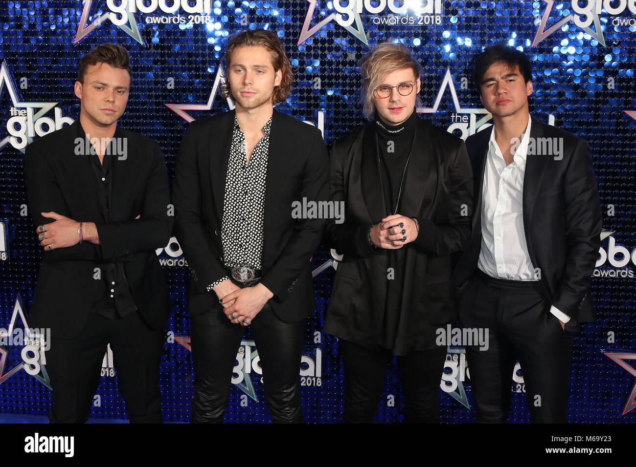 5 Seconds Of Summer Luke Hemmings Ashton Irwin Michael Clifford Calum Hood Attends The Global Awards And New Awards Show Hosted By Global