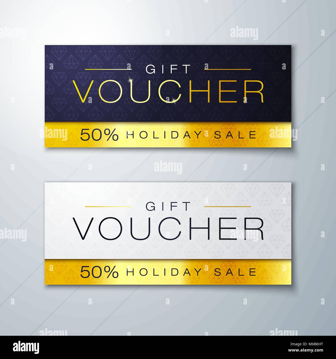 vector illustration gift voucher template with clean and modern