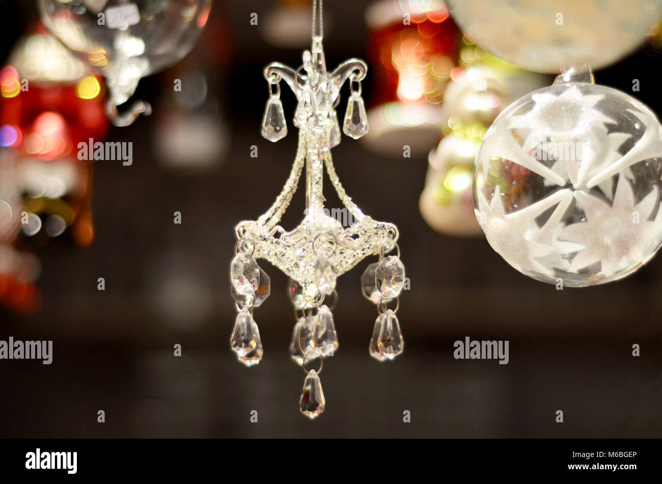 Chandelier christmas tree decoration stock photo royalty free image chandelier christmas tree decoration arubaitofo Images