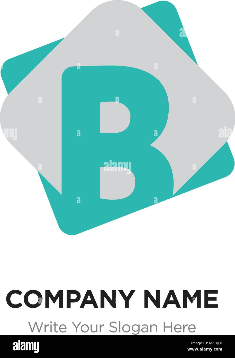 abstract letter b logo design template green vector iconon matte background