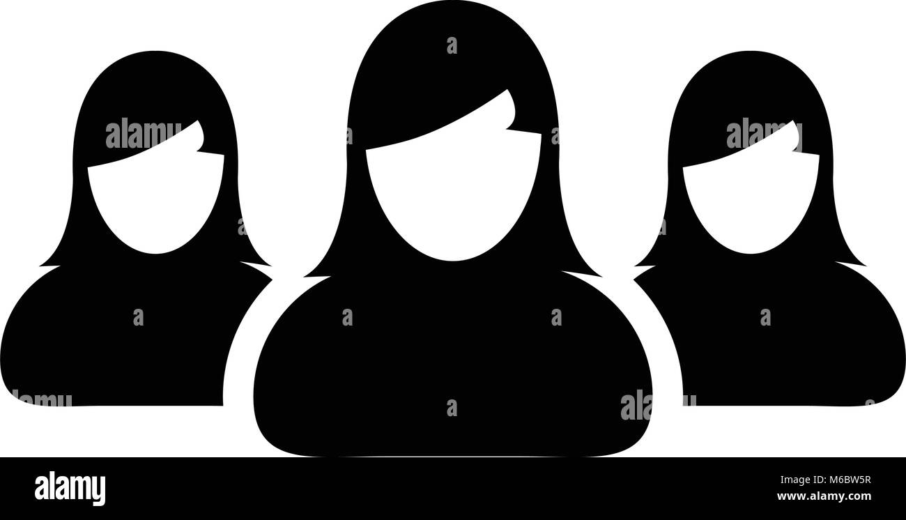 People icon vector group for female business team management person people icon vector group for female business team management person avatar symbol in glyph pictogram illustration biocorpaavc Gallery