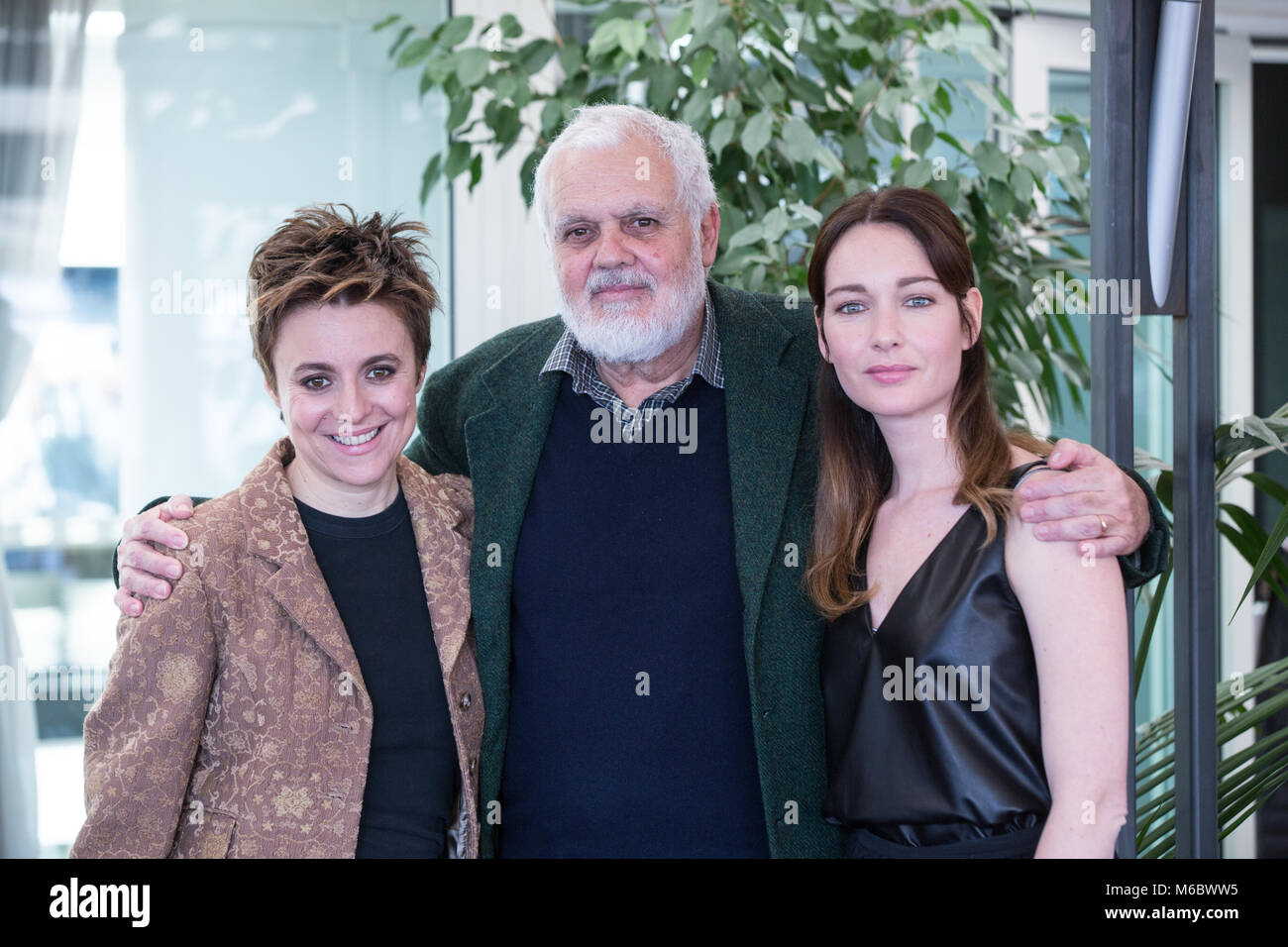 Italian director Marco Tullio Giordana with italian actresses Stock ...