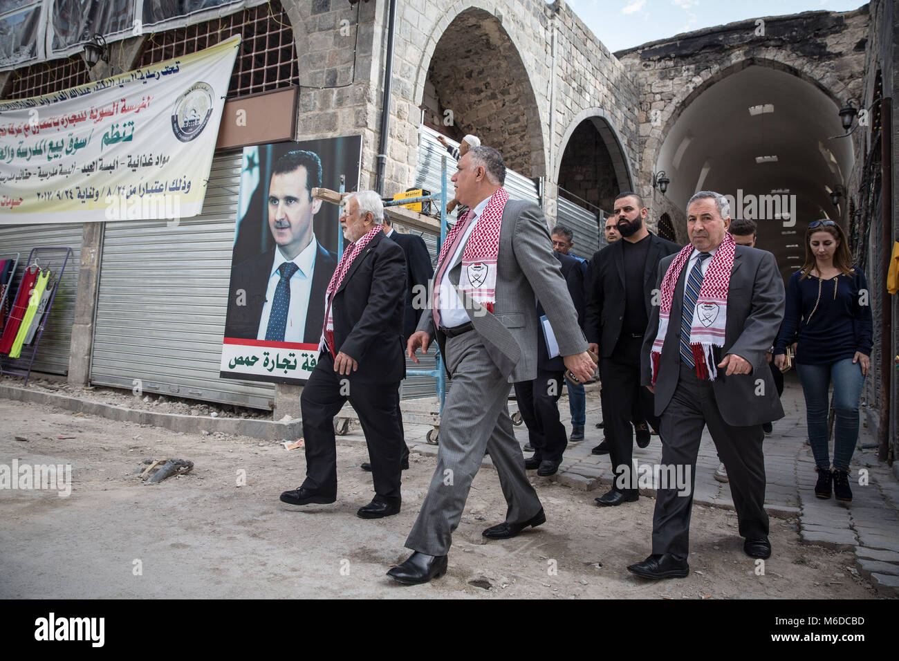 Homs Syria 29th Oct 2017 Local Officials Tour The Homs Souk