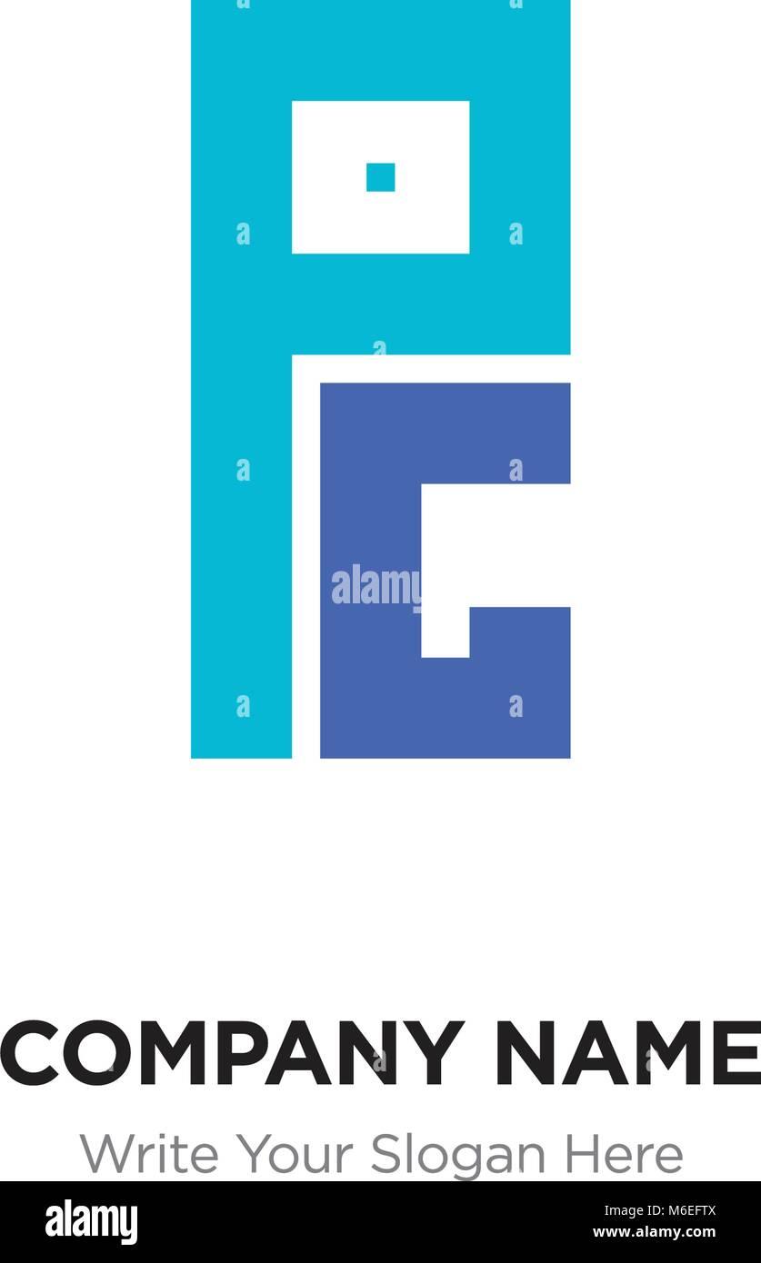 Abstract Letter Pg Or Gp Logo Design Template Black Alphabet