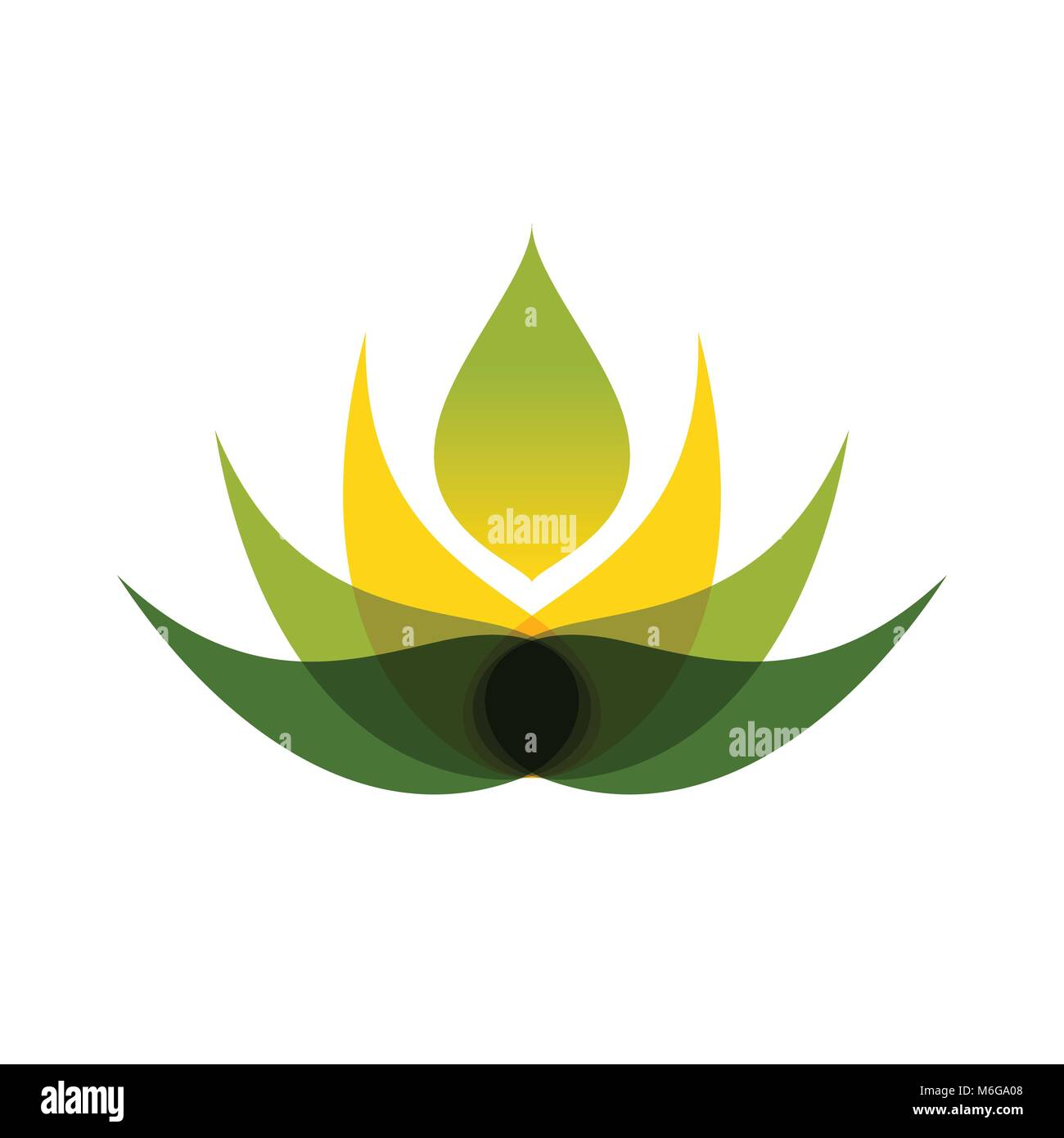 Abstract Multiply Lotus Flower Vector Symbol Graphic Logo Design