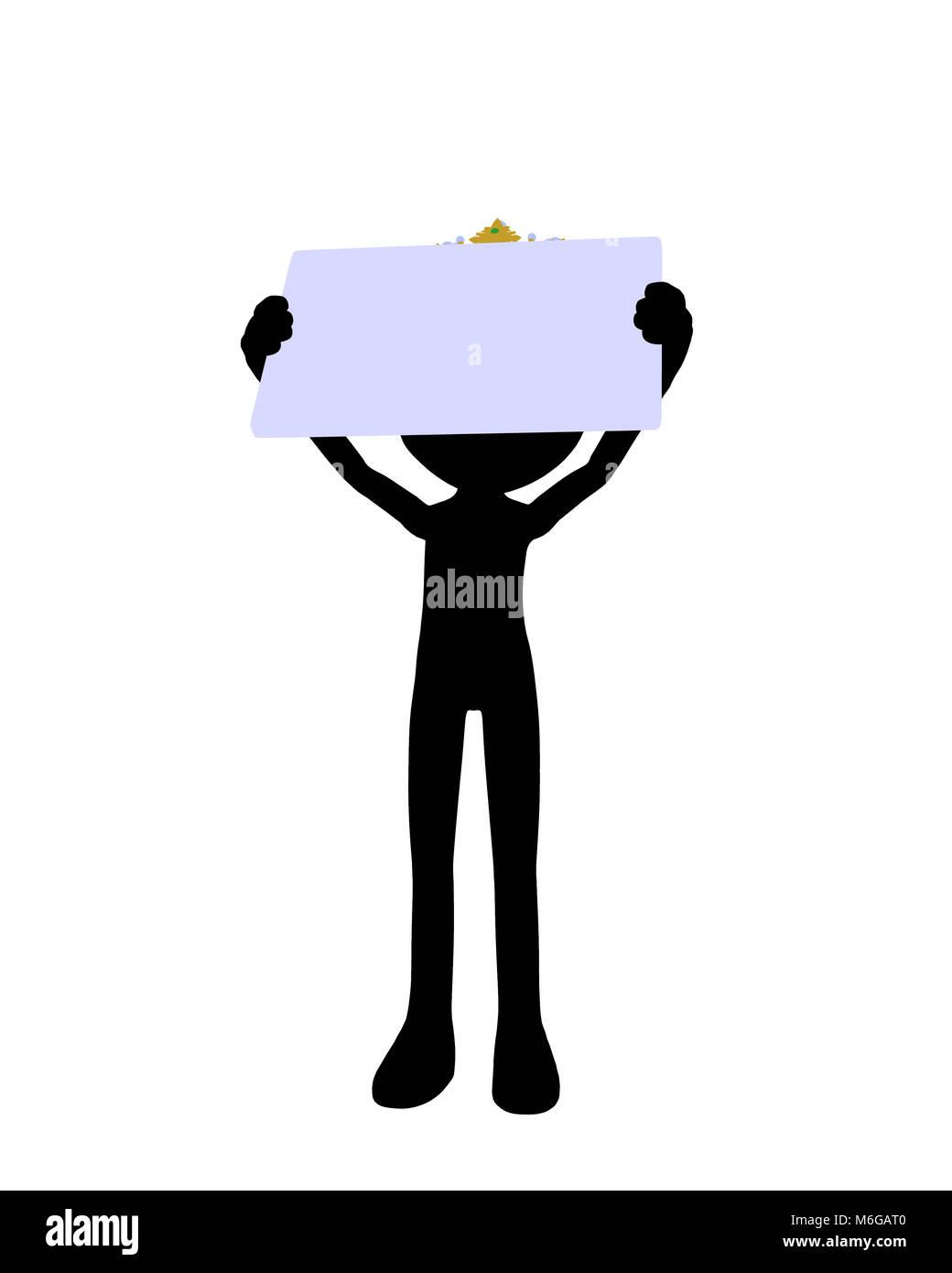 Cute black silhouette king guy holding a blank business card on a cute black silhouette king guy holding a blank business card on a white background colourmoves