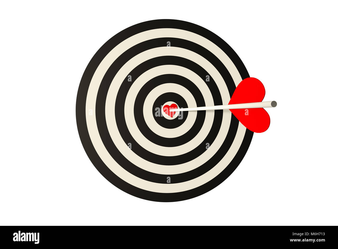 Bullseye archery cut out stock images pictures alamy heart bow currency symbol and red heart stock image thecheapjerseys Gallery