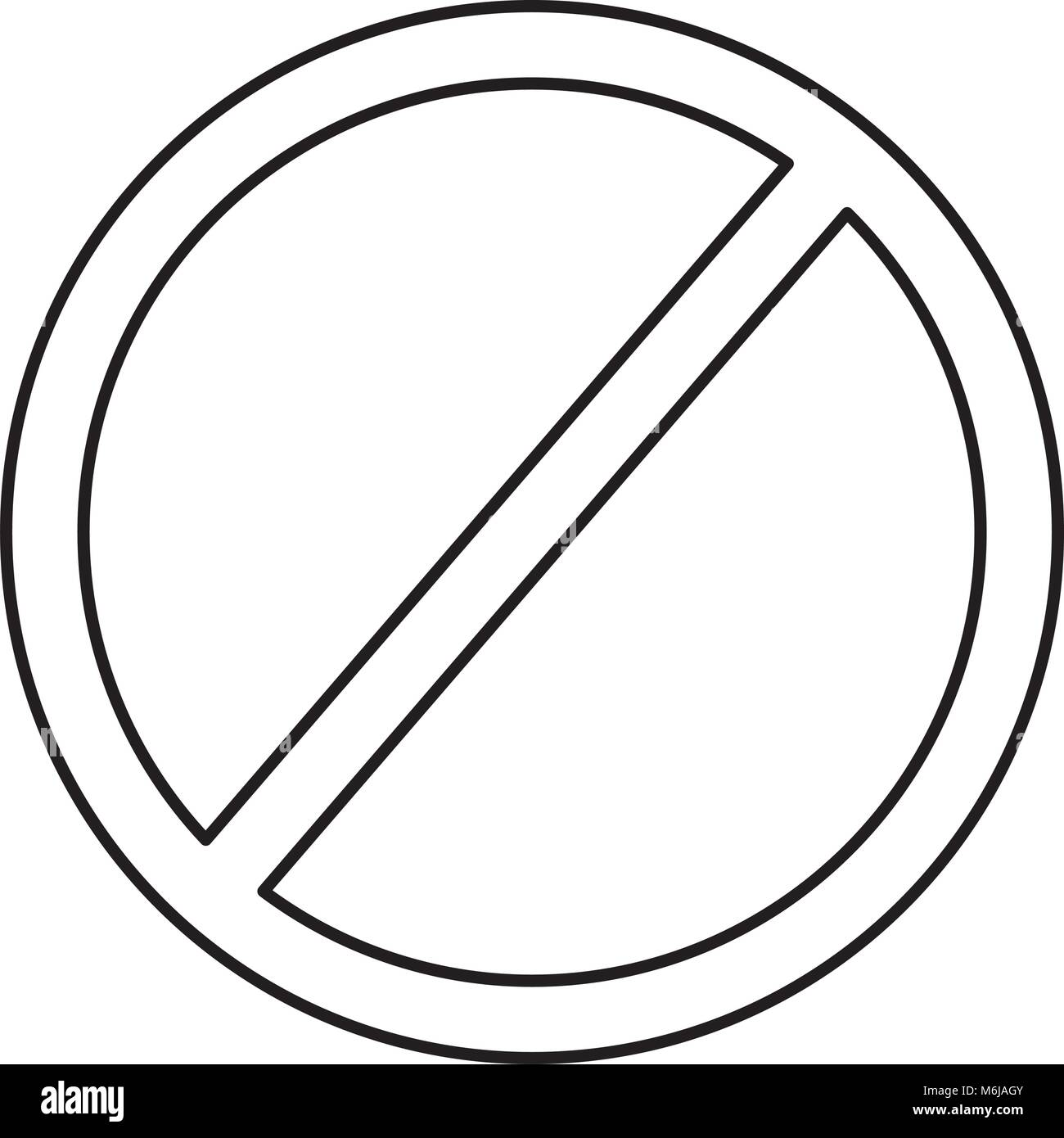 prohibition no symbol red round stop warning sign template stock