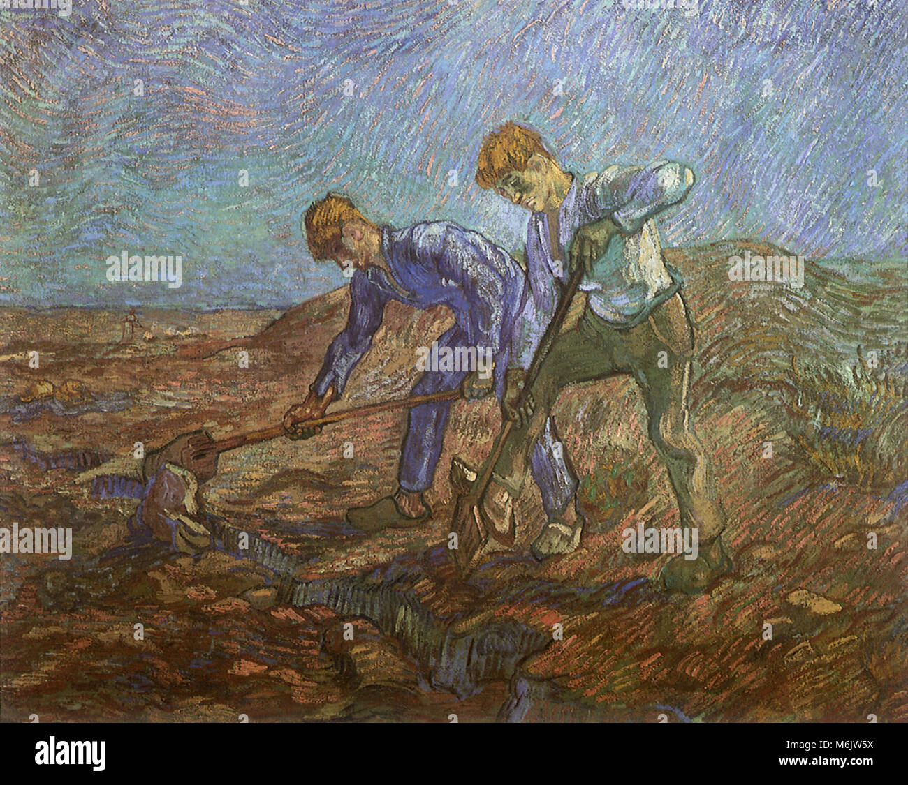 Two Peasants Stock Photos Two Peasants Stock Images Alamy # Muebles Van Gogh Valladolid