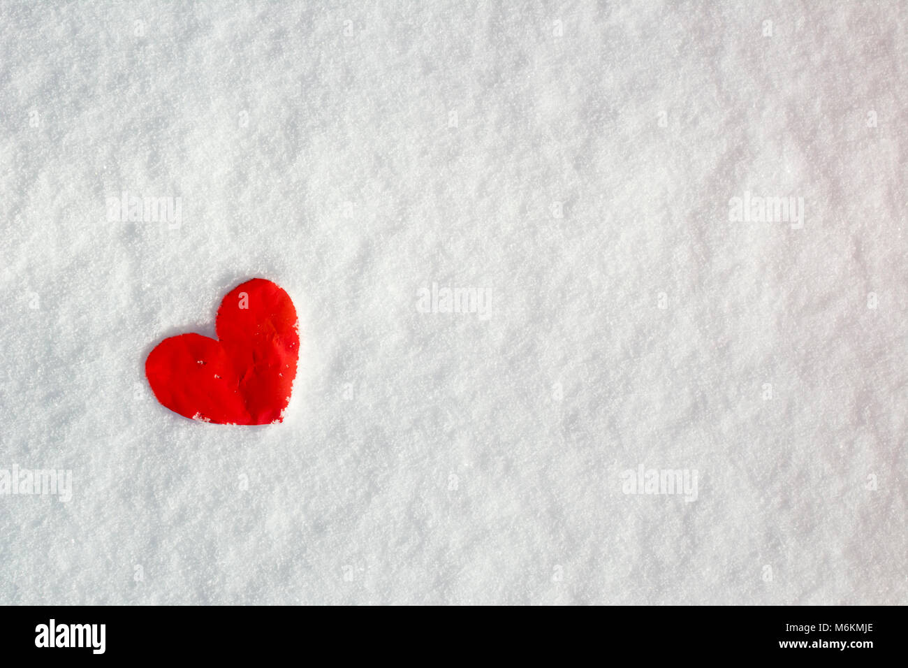 love hearts on snow, valentine's day, romantic, mother's day stock
