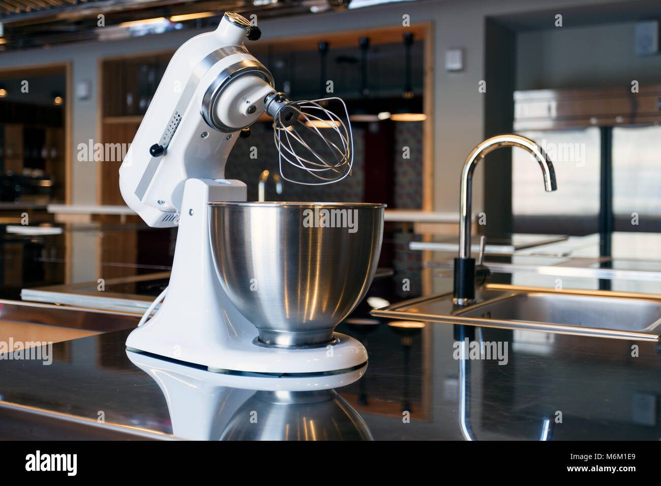 Modern Exhibition Stand Mixer : Used electrical appliances stock photos