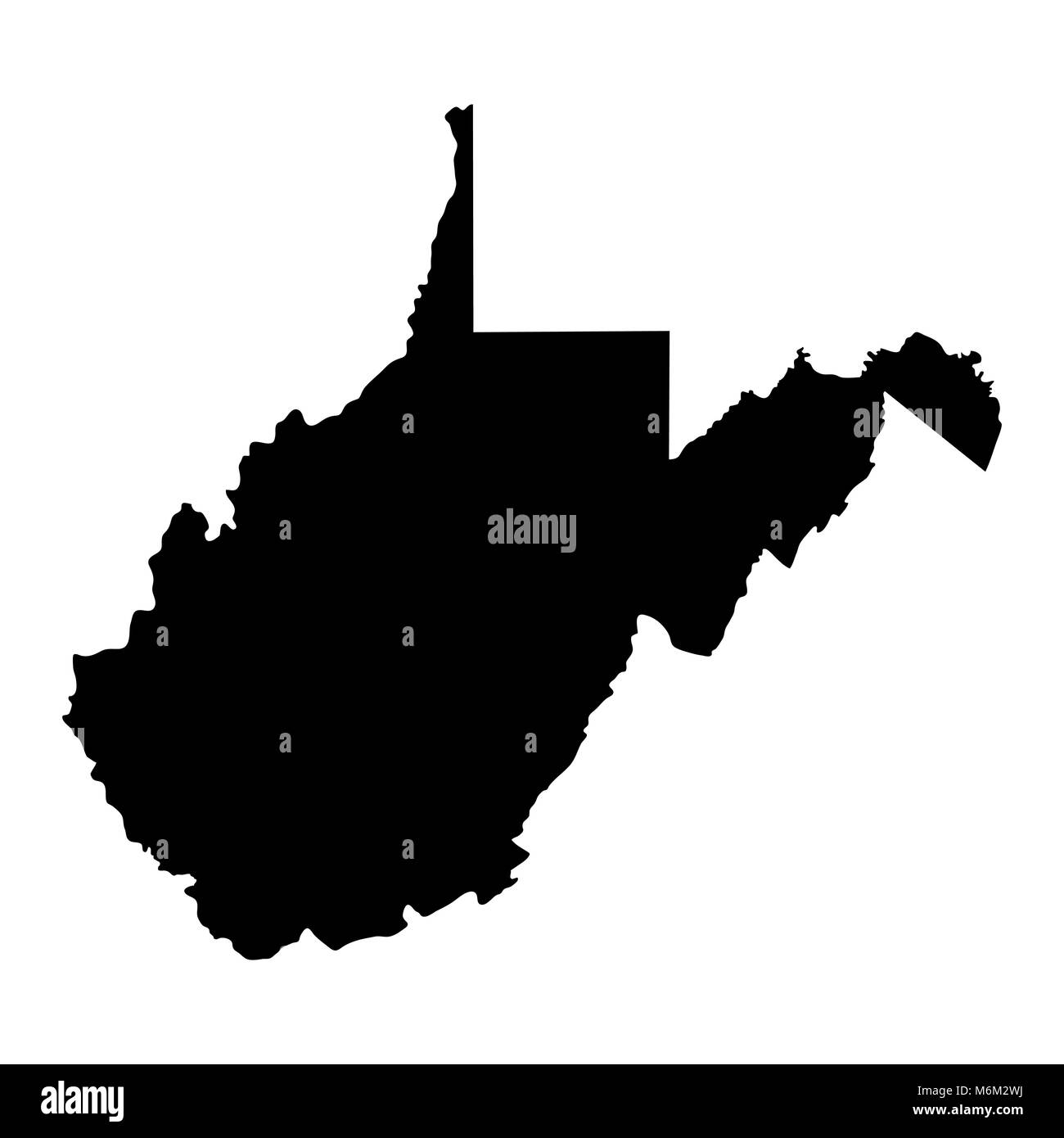 map of the U.S. state of West Virginia Stock Vector Art ...