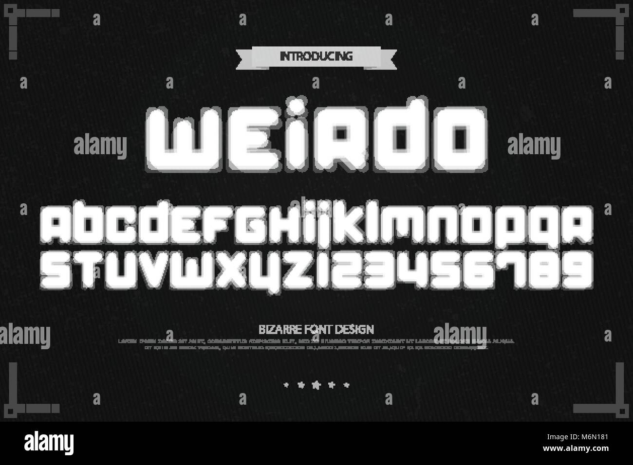 Weird style alphabet letters and numbers vector bizarre font type weird style alphabet letters and numbers vector bizarre font type design glitch lettering symbols stylish blur typesetting optical illusion type buycottarizona Gallery