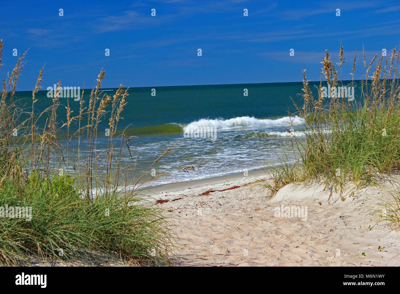 oak island north carolina beach stock photo 176254119 alamy
