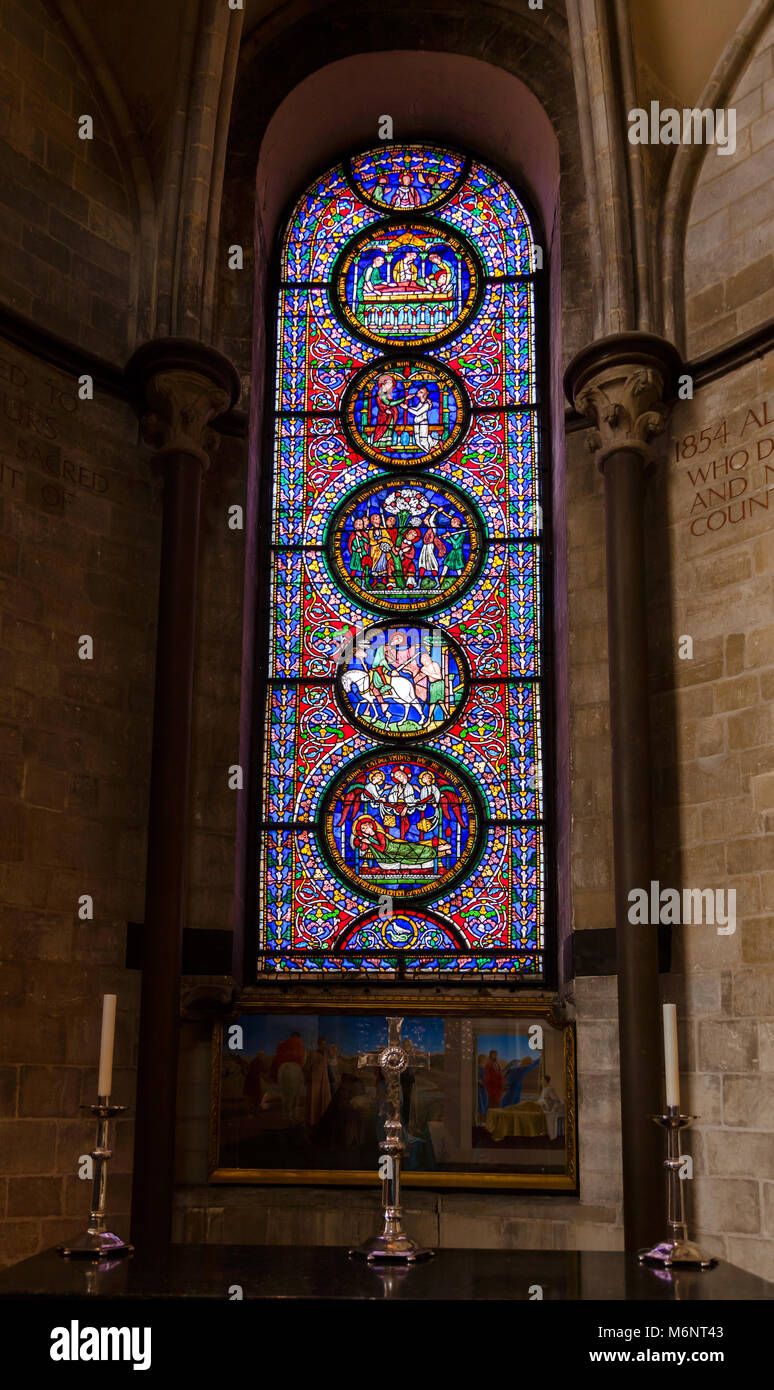 Gothic Stained Glass Pictures Stock Photos