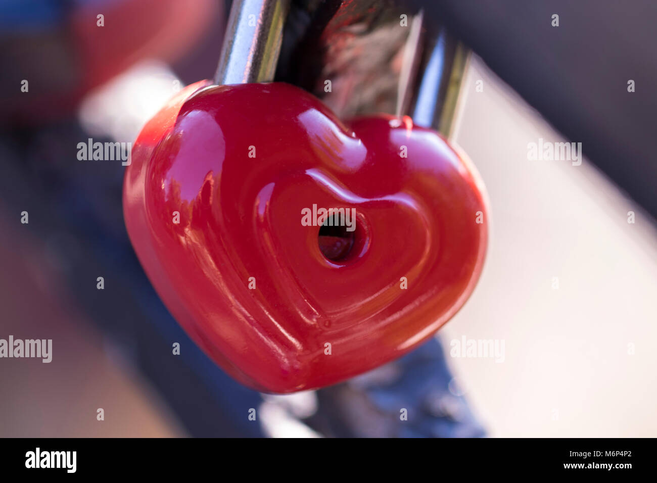 Heart Shaped Love Padlocks On The Bridge As A Symbol Of Eternal Love