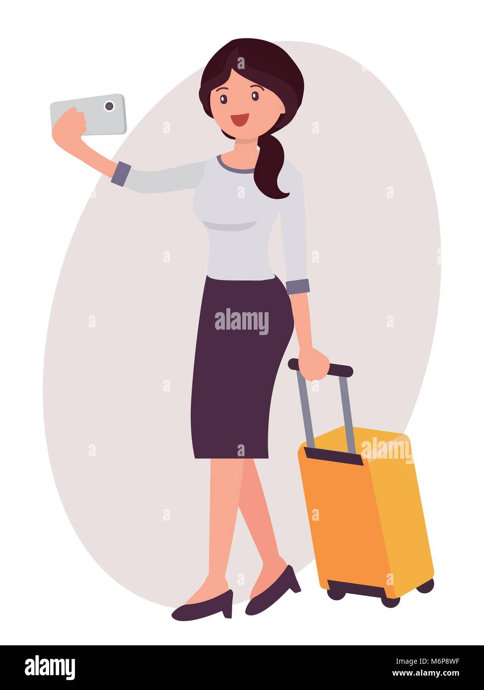 Cartoonsmart Character Design : Cartoon happy office girl cut out stock images pictures