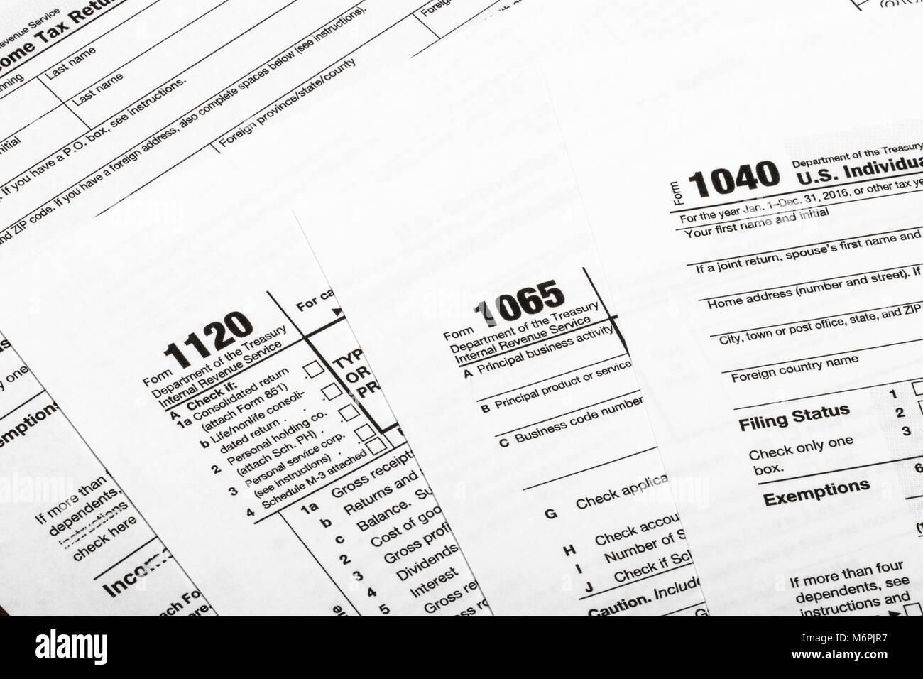 104011201065 Us Tax Form Taxation Concept Usa Stock Photo