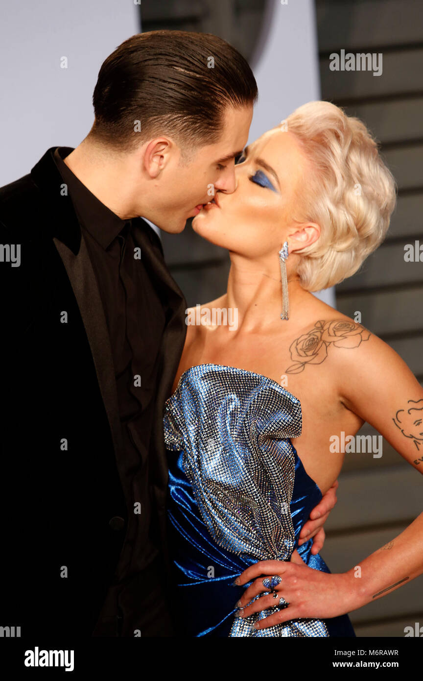 G Eazy And Halsey Attending The 2018 Vanity Fair Oscar Party Hosted
