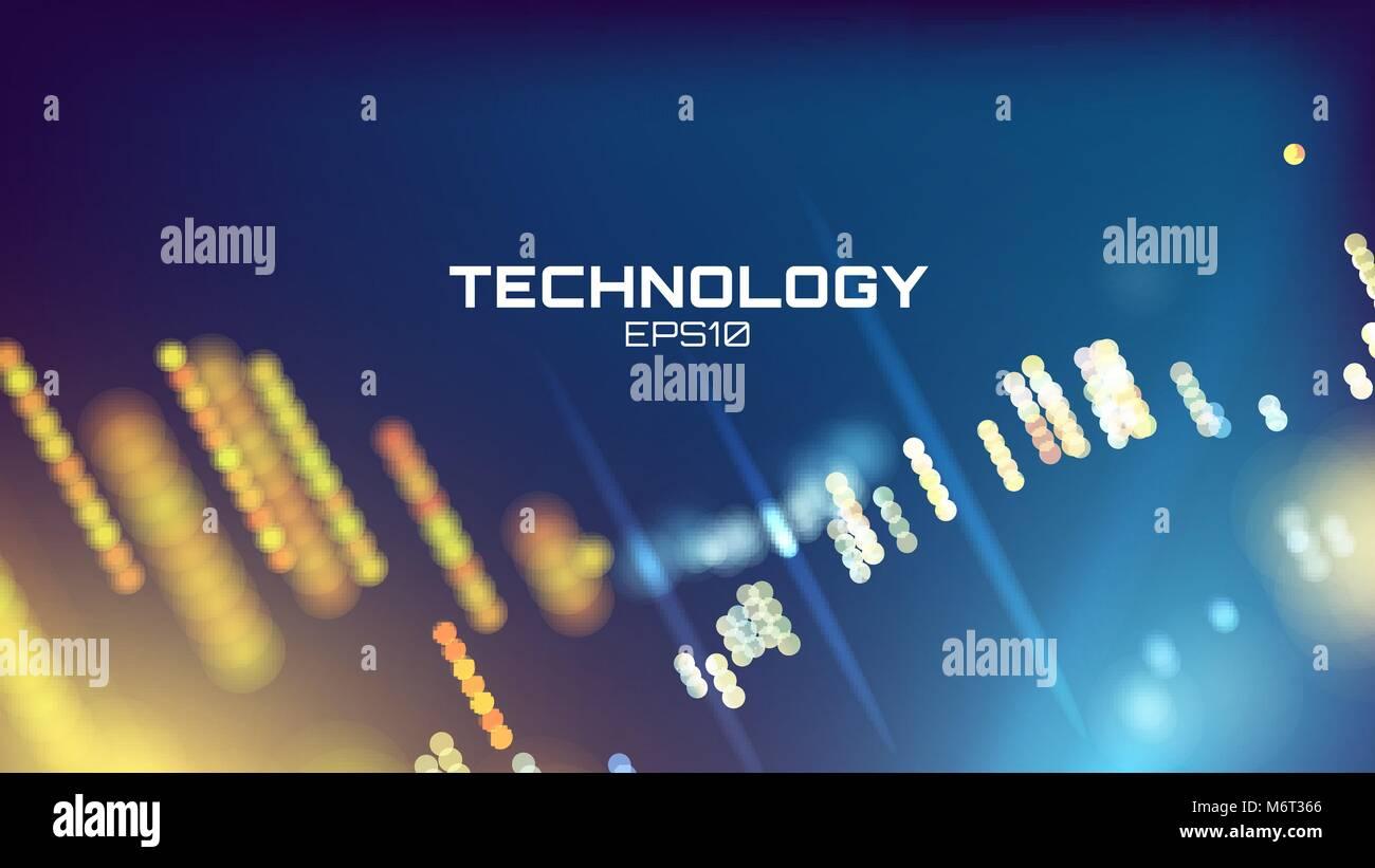 Neon Glow Grid Wallpaper Science Visualization