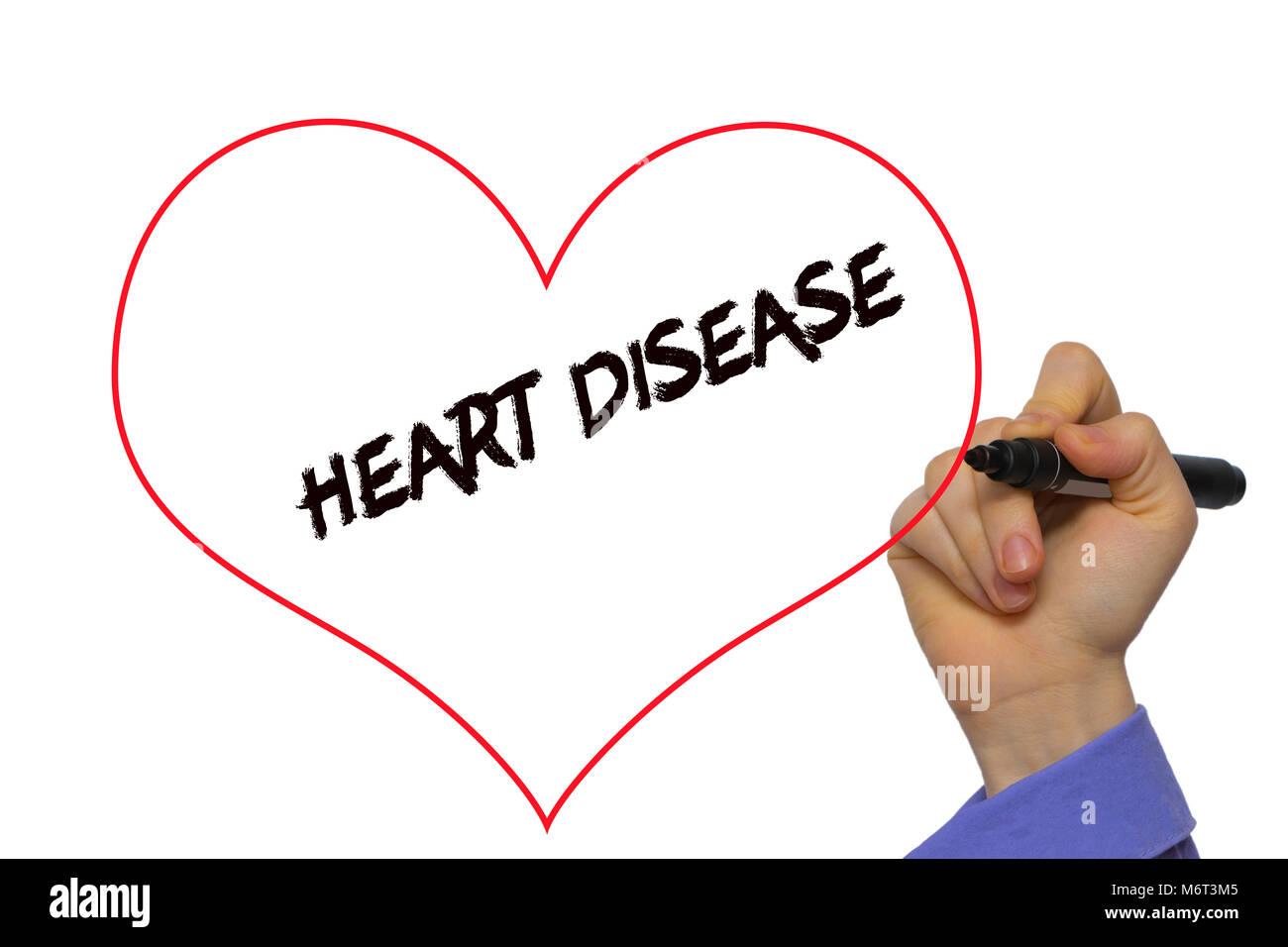 Heart infection stock photos