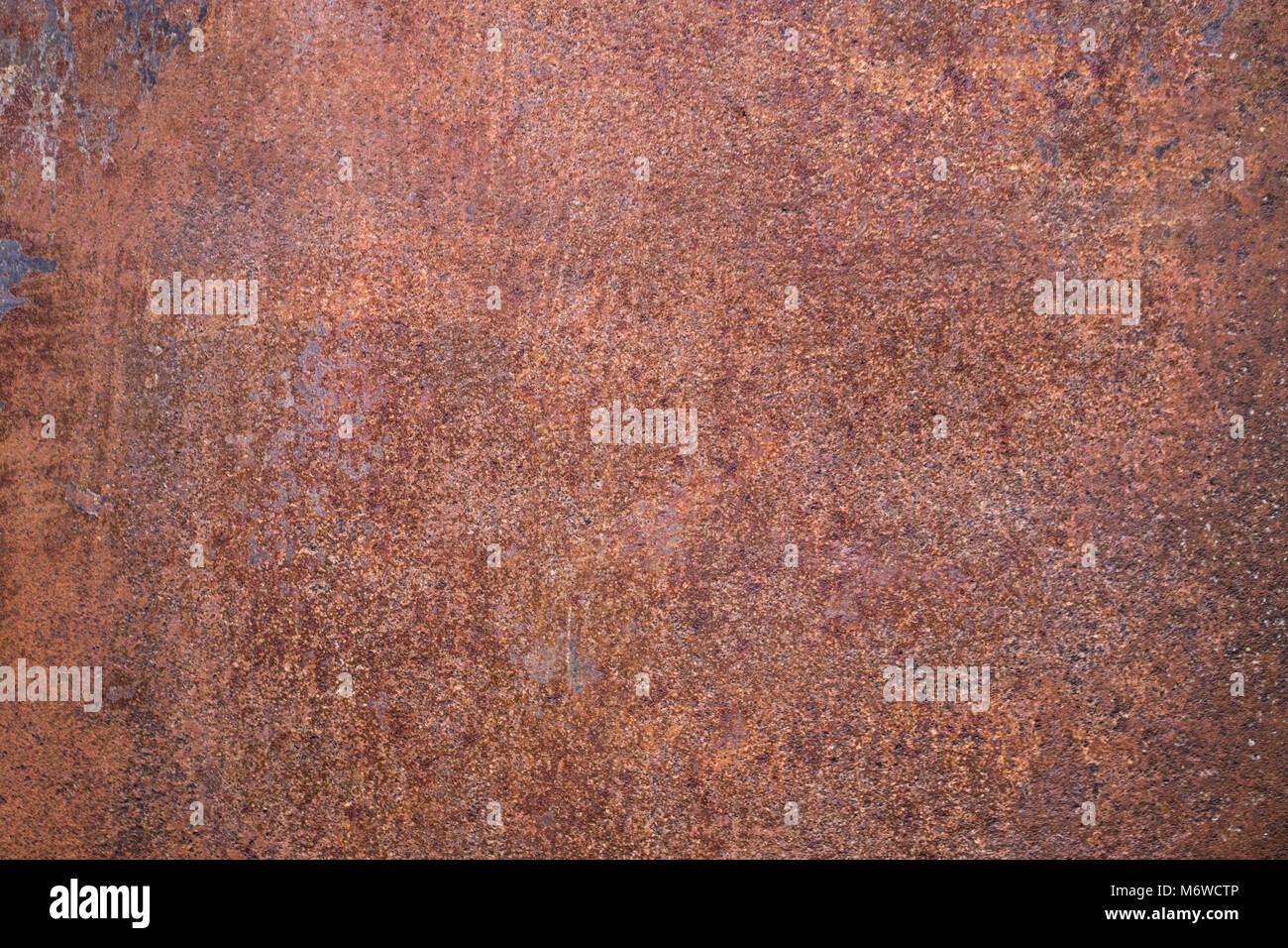 worn dark brown rusty metal texture background stock photo