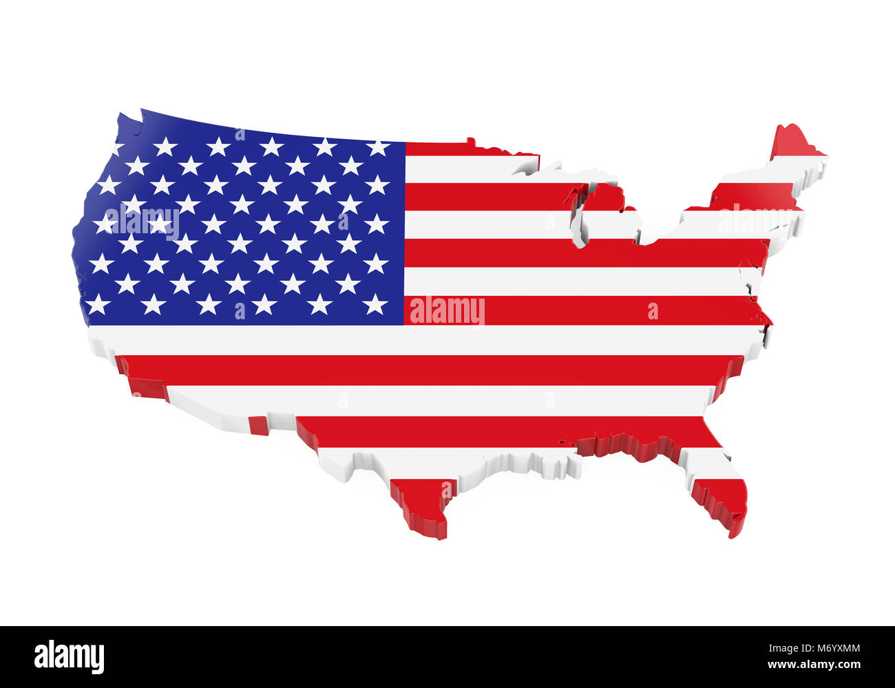 United States of America Map Flag Stock Photo: 176405284 - Alamy