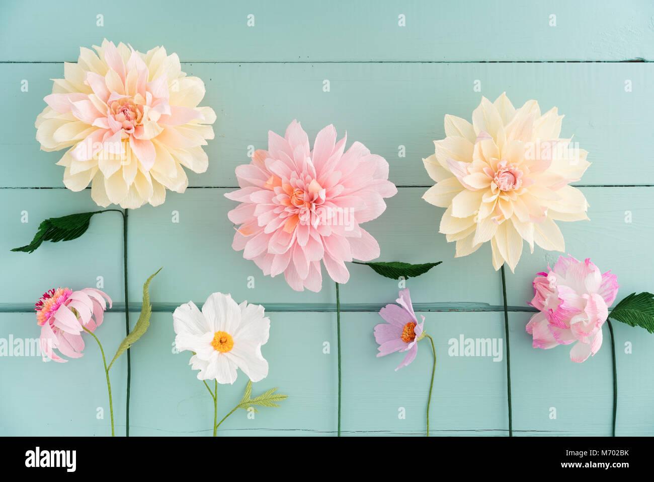 Crepe Paper Flowers Stock Photo 176408167 Alamy