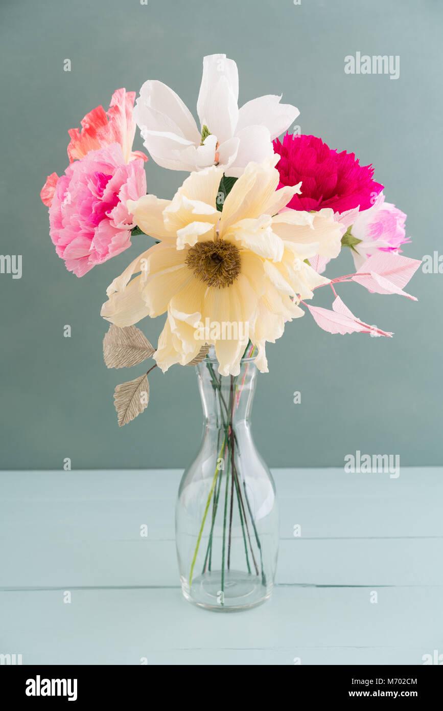 Crepe Paper Flower Bouquet Stock Photo 176408196 Alamy