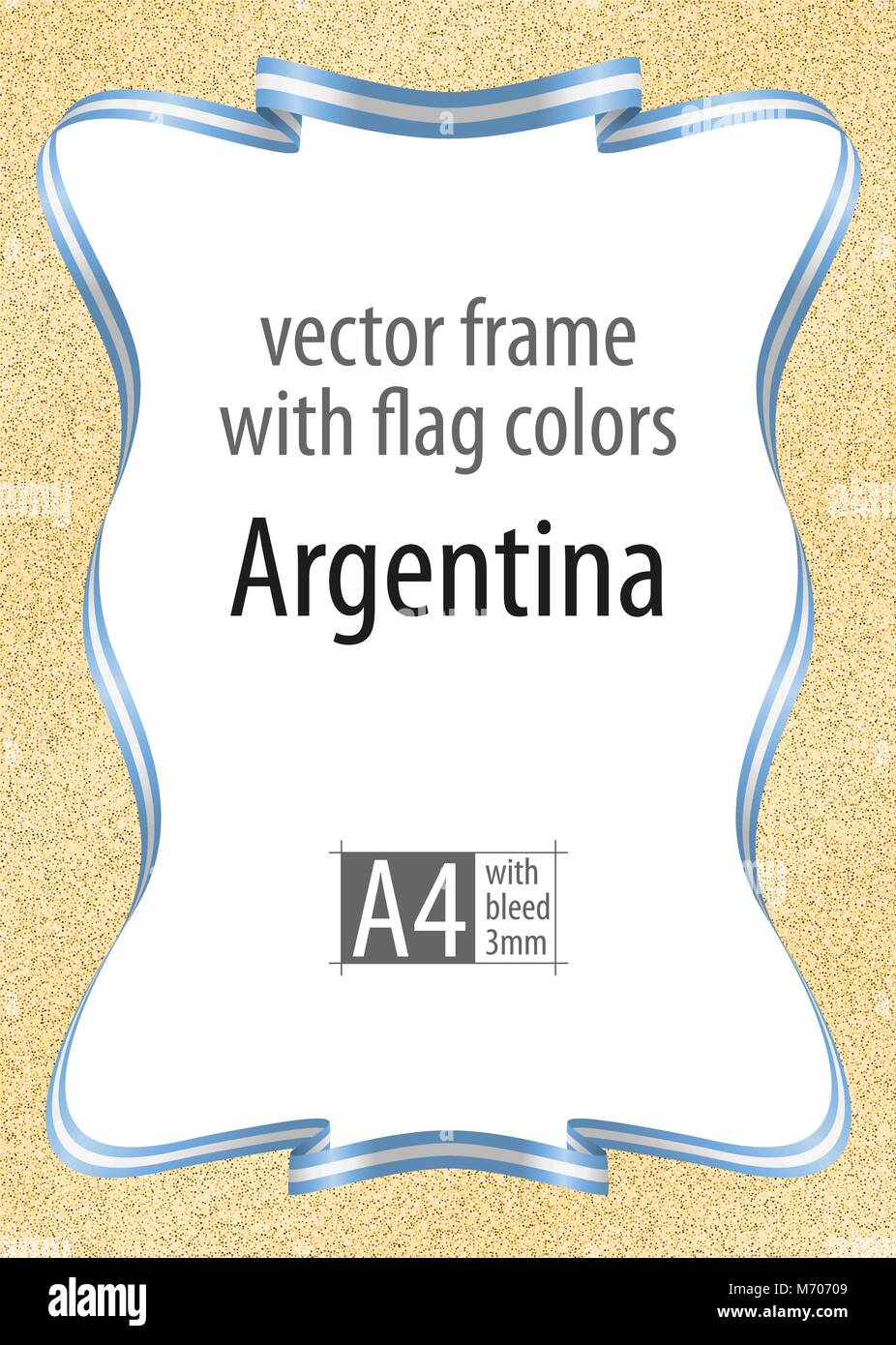 Certificate of authenticity stock photos certificate of frame and border of ribbon with the colors of the argentina flag template elements for alramifo Images