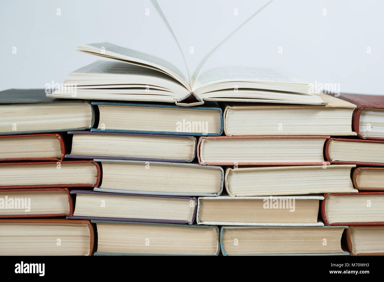 stack of old books pastel colors Stock Photo: 176426351 - Alamy