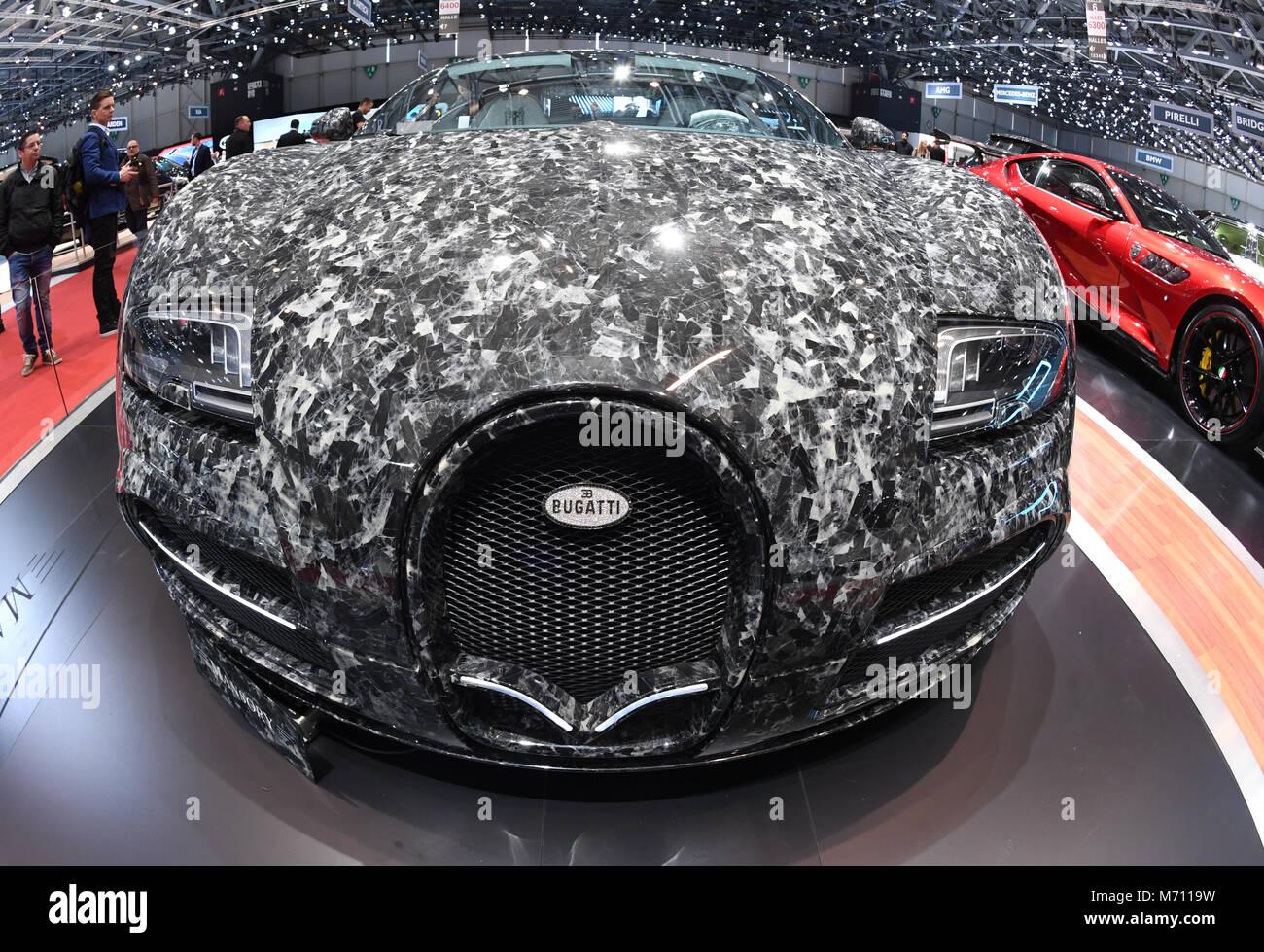 07 March 2018 Switzerland Geneva A Mansory Bugatti Veyron Vivere