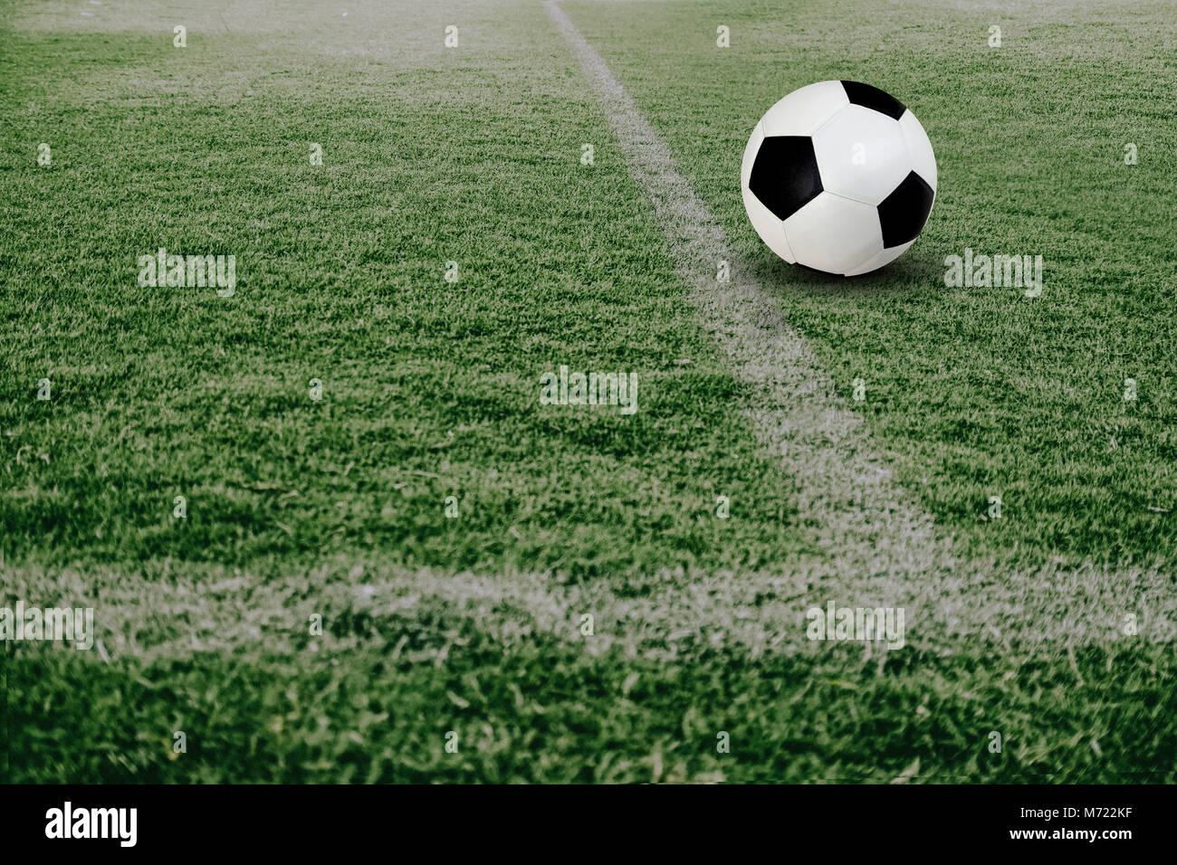 green grass football field. Football Is Played In Green Field For Matches,Soccer Ball Grass