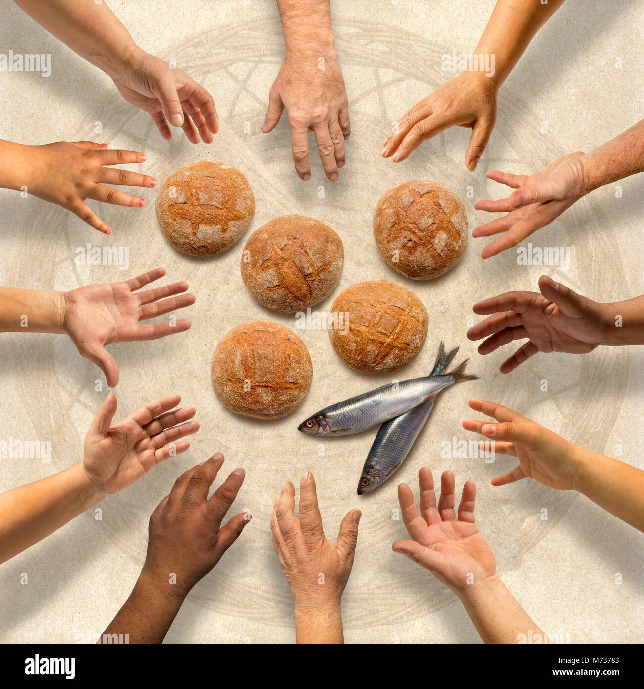 Loaves and fishes stock photos loaves and fishes stock for Loaves fishes