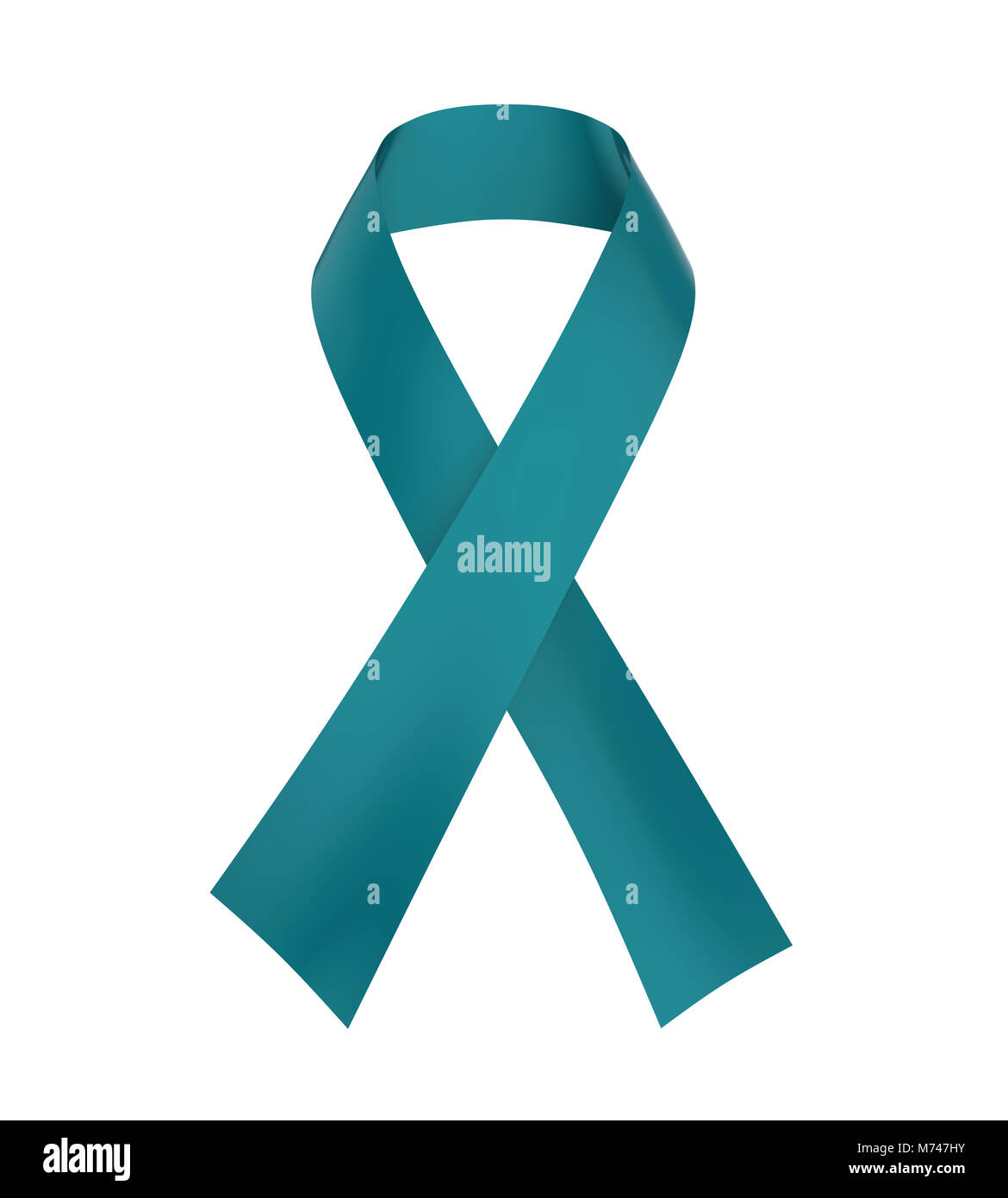 Teal Ribbon Ovarian Cancer Awareness Stock Photo 176500071 Alamy