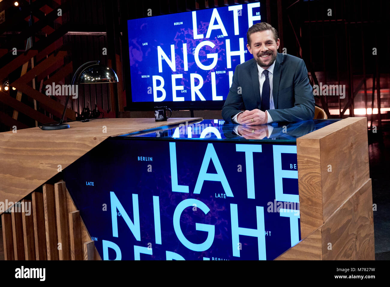 Germany Potsdam Klaas Heufer Umlauf Sits In The Studio Of His New Late Night Show Late Night Berlin Starting From  March