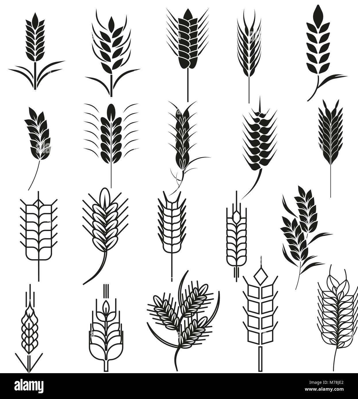 Sheaf of wheat symbolism images symbol and sign ideas wheat ear icon set cereals symbols can be used for organic plants wheat ear icon set buycottarizona Choice Image