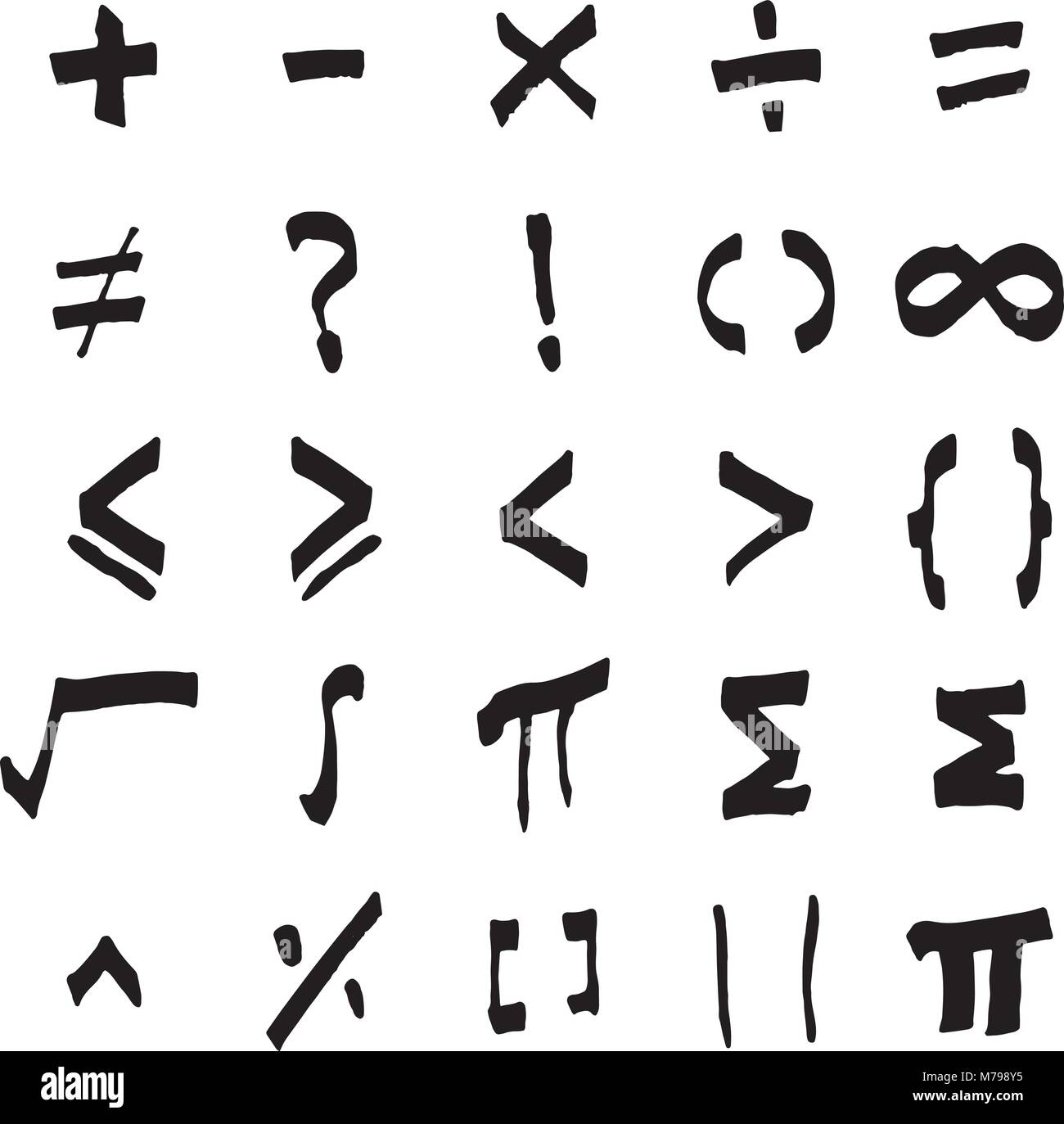 Sigma symbol stock photos sigma symbol stock images alamy black color of handdrawing of basic mathmatics symbol on white background stock image biocorpaavc Images